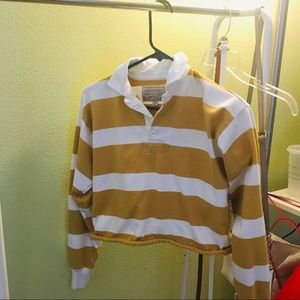 Abercrombie & Fitch striped crop top